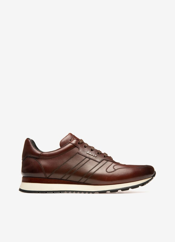 BROWN CALF Sneakers - Bally