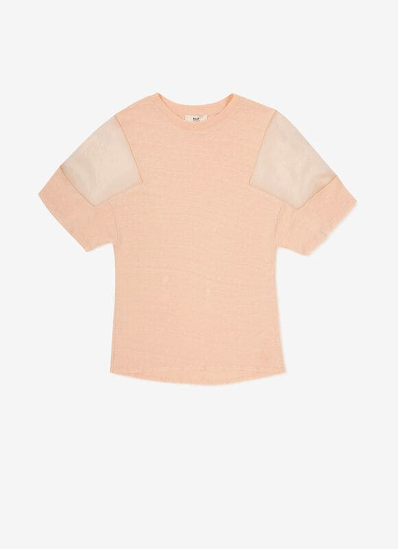 PINK MIX LINEN/COTTON Tops - Bally