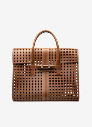 BROWN CALF Tote Bags - Bally