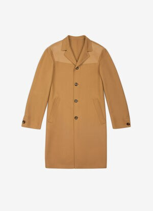 BROWN MIX WOOL Outerwear - Bally