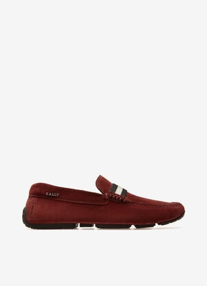 BURGUNDY CALF Drivers - Bally