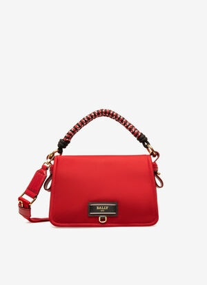 RED NYLON Cross-body Bags - Bally