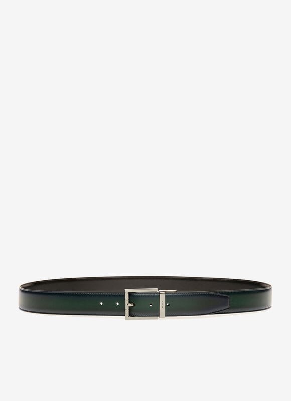 BLACK BOVINE SPLIT Belts - Bally
