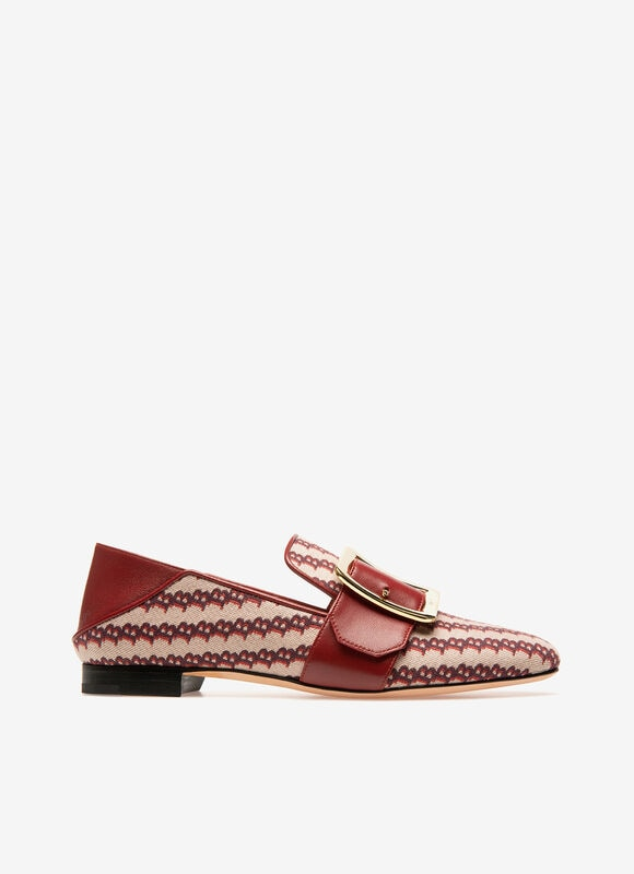 RED MIX COTTON/POLY Flats - Bally