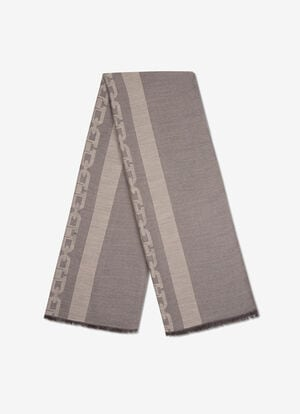 GREY MIX POLYESTER Scarves - Bally