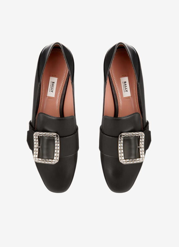 BLACK CALF Flats - Bally