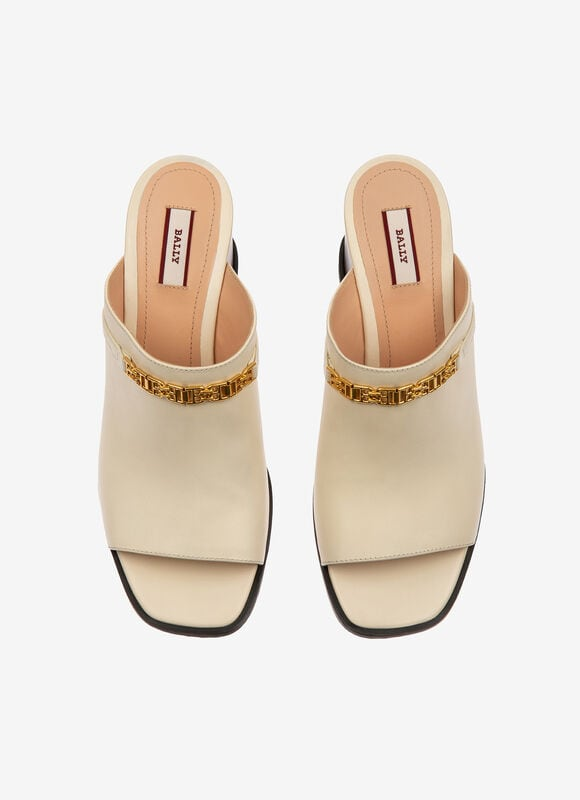 WHITE CALF Sandals - Bally