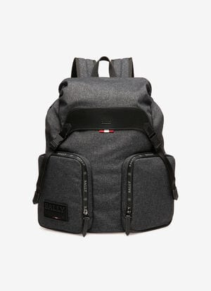 GREY FABRIC Backpacks - Bally