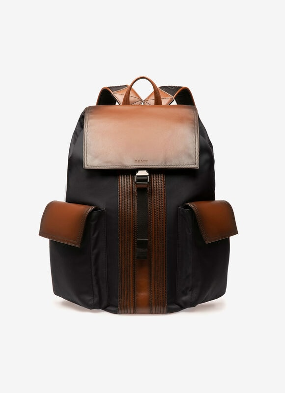 BLACK FABRIC Backpacks - Bally