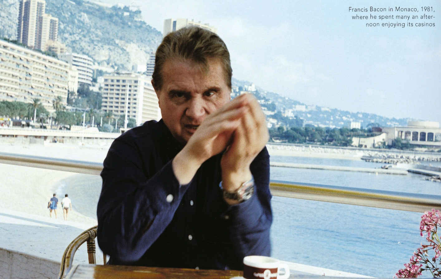 Francis Bacon in Monaco, 1981, where he spent many an afternoon enjoying its casinos